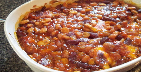 Baked Beans Recipe is a deliciously different way to prepare homemade baked beans.  Perfect with any summertime dish, Baked Beans are a classic american side dish.