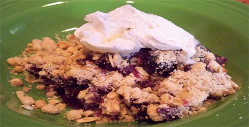 Blueberry Crisp is one of my families favorite fruit dessert recipes.  It is great for summertime when blueberries are in season and extra delicious.