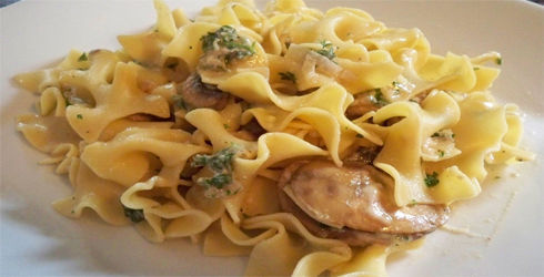 Mushroom Pasta Recipe is a simple dish to make, perfect for those busy weeknight meals.  A creamy, low-fat dish that is full of flavor.
