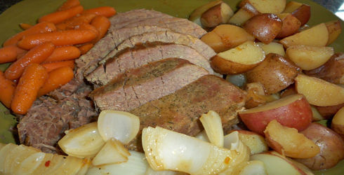 Slow Cooker Pot Roast is a perfectly seasoned, comforting meal.  Everyone needs a good pot roast recipe, and this is one of the easiest and most flavorful I have ever tried.