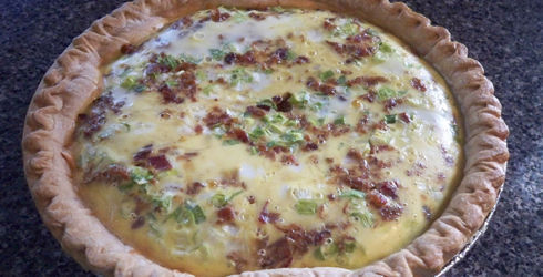 Quiche Lorraine is an awesome dish, with lots of flavor, simple ingredients, and easy preparation.  It can be served for breakfast, lunch, or dinner.  It is the perfect dish.