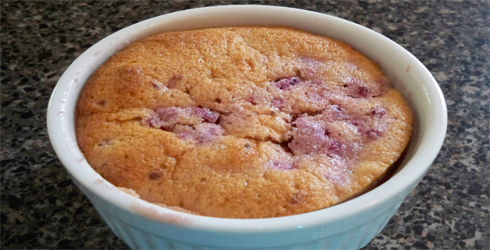 Raspberry Pudding Cake is a delightful little dessert, full of fruity flavor, easy to put together, and deliciously low-fat.  You're family will love it!