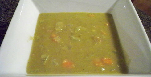 This Split Pea Soup Recipe is not like you average canned soup.  It is thick, flavorful, and fills your belly.  Super easy to make, this is the perfect winter soup.