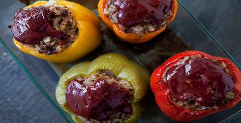 Stuffed Bell Peppers are a classic American dish.  You get your whole meal in a delicious, edible container.
