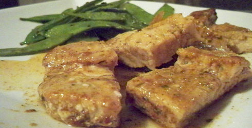 Herbed Adobo Pork Chops recipe is a wonderful alternative to breading and frying the chops, making them healthier and more flavorful.  Serve with some fresh veggies.
