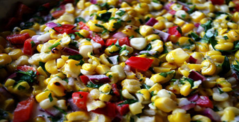 This is a wonderful Grilled Corn Salad that appears in our house every summer when corn is super sweet and in season.  Grilled Corn Salad really showcases what summer corn is all about.