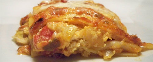 Artichoke Lasagna Rolls are a perfect way to use up left over lasagna noodles.  I always seem to have a few left in the box - not enough for a whole pan of lasagna.