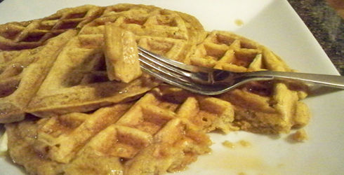 Pumpkin Waffles should taste like you're taking a bite into a pumpkin pie.  This recipe has an amazing flavor, and if you love pumpkin pie you will totally fall in love with these Pumpkin Waffles.